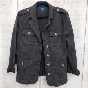 Chocolate brown blazer with pockets